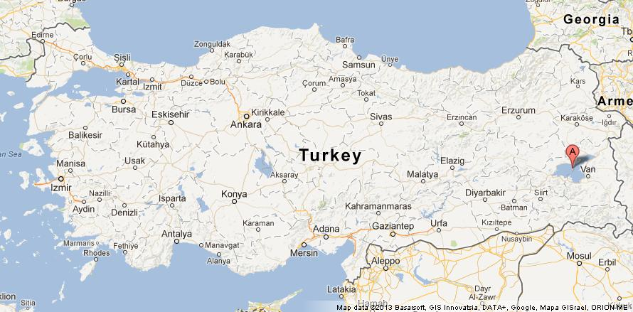 Lake Van on Map of Turkey World Easy Guides