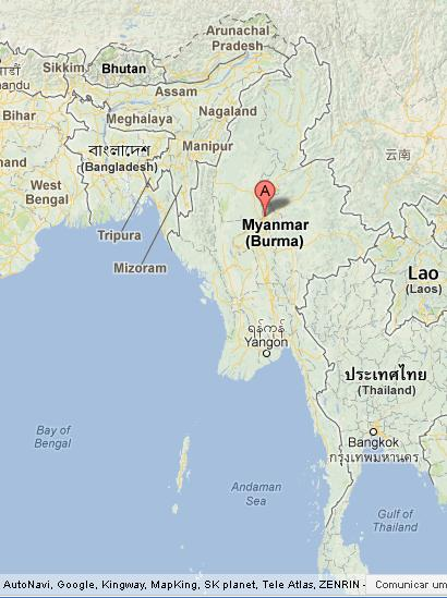 Mandalay on Map of Myanmar World Easy Guides