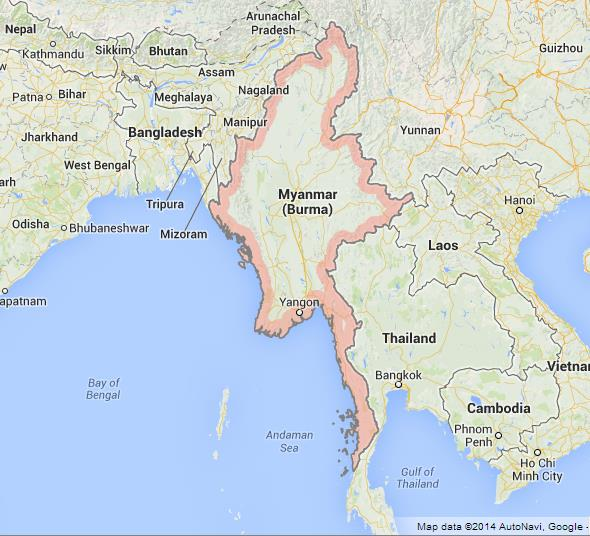 Map Of Myanmar World Easy Guides - Myanmar map