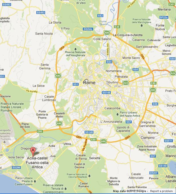 Ostia Antica On Map Of Rome