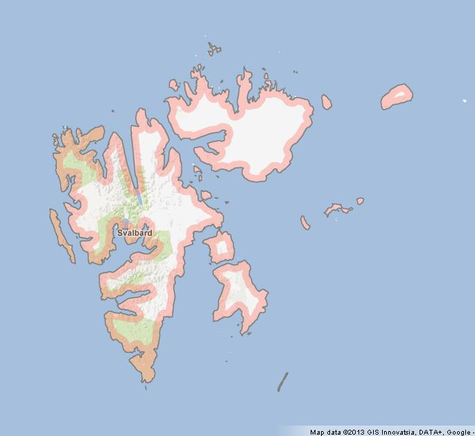Svalbard Map World Easy Guides