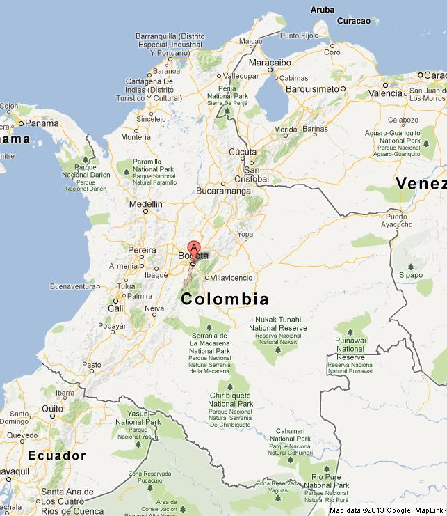 Bogota On Map Of Colombia World Easy Guides - Where is bogota