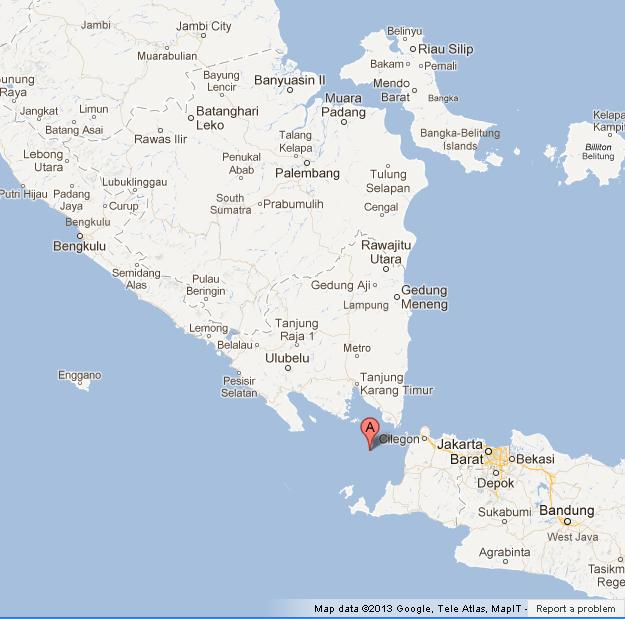 Krakatoa on map of java and sumatra world easy guides where is krakatoa on map of java and sumatra gumiabroncs Choice Image