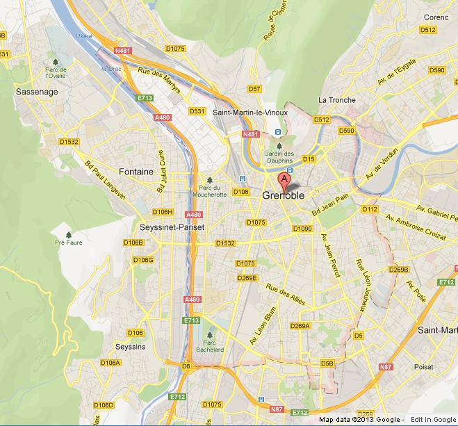 Map of Grenoble World Easy Guides