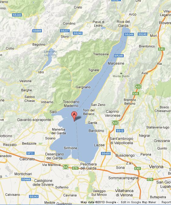 lake garda on map Map Of Lake Garda lake garda on map