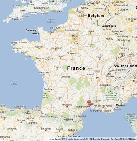 Montpellier on Map of France World Easy Guides