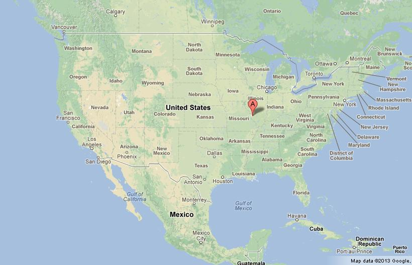 Where Is St Louis On The Us Map St Louis Missouri on US Map