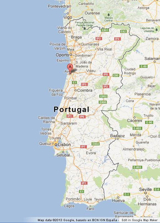 Aveiro On Map Of Portugal World Easy Guides - Portugal on map
