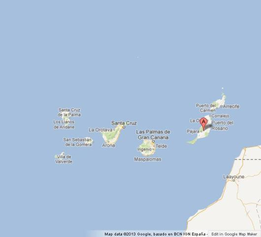 Fuerteventura on Map of Canary Islands World Easy Guides