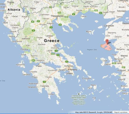 Lesbos on Map of Greece World Easy Guides