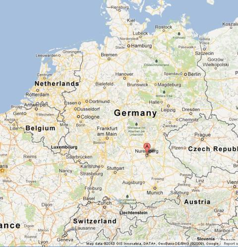Map Of Germany Nuremberg.Nuremberg On Map Of Germany