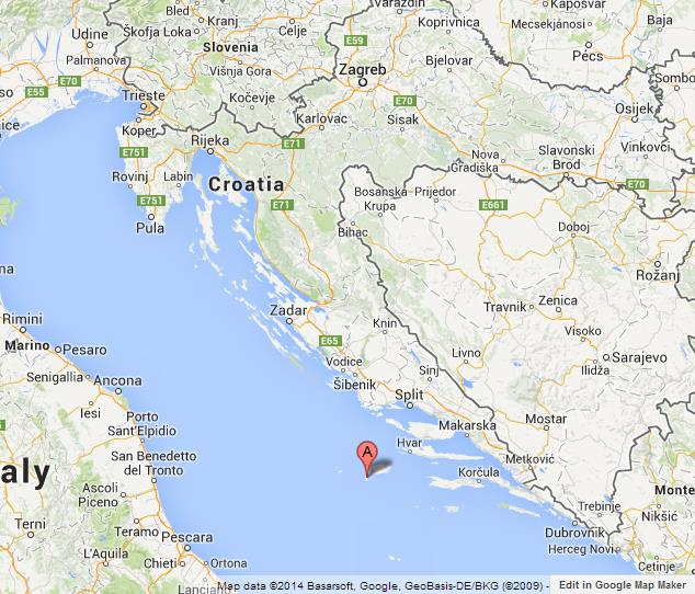 Blue cave on map of croatia world easy guides where is blue cave on map of croatia gumiabroncs Gallery
