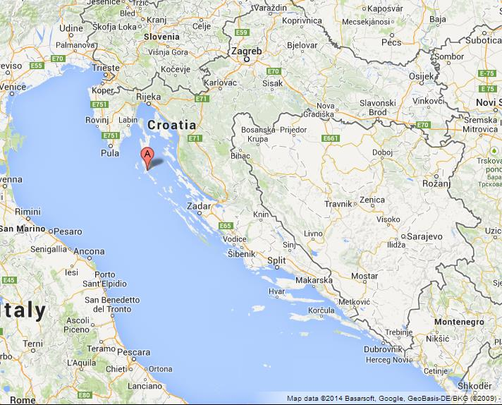 Losinj On Map Of Croatia World Easy Guides - Udine map