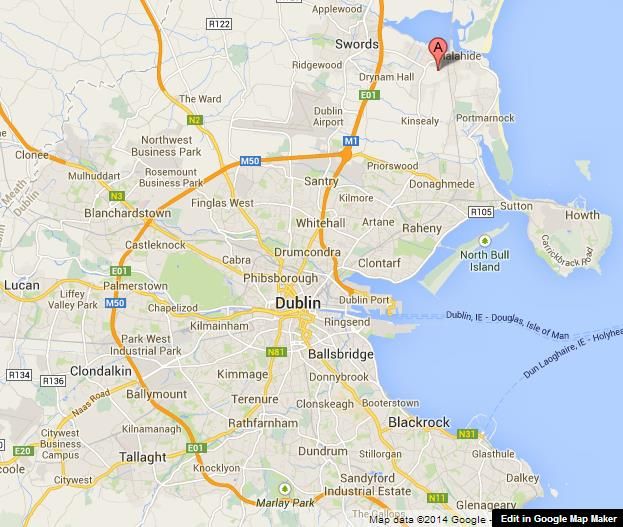 Malahide Castle on Map of Dublin World Easy Guides