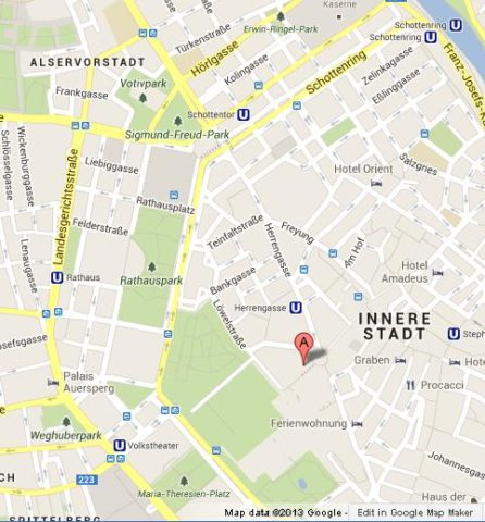 Where is Hofburg Palace on Vienna Map