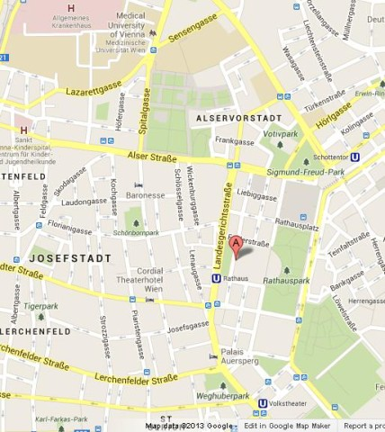 Where is Rathaus Vienna on Map