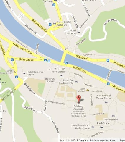 Where is Salzburg Cathedral on Map of Salzburg