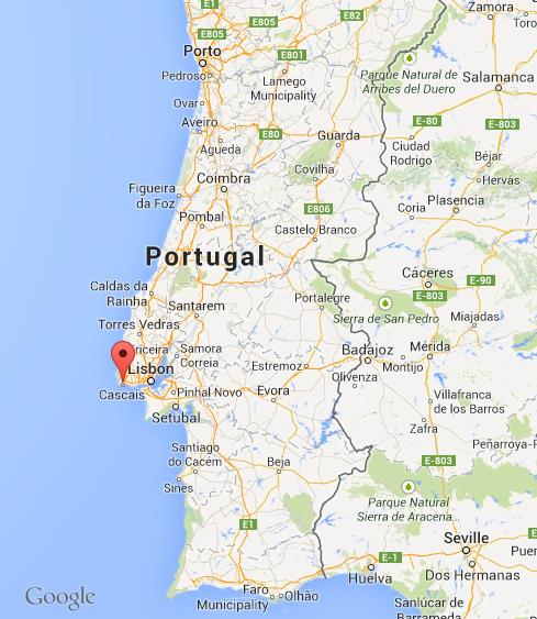Where Is Cascais On Map Of Portugal