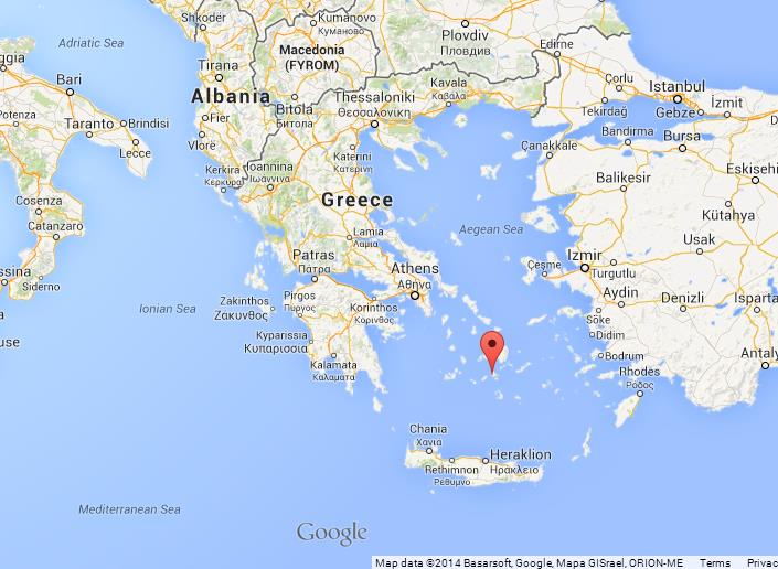 Ios on Map of Greece World Easy Guides