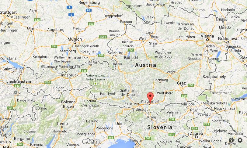 Klagenfurt on map of Austria World Easy Guides