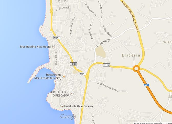 Map Of Ericeira World Easy Guides - Portugal map ericeira