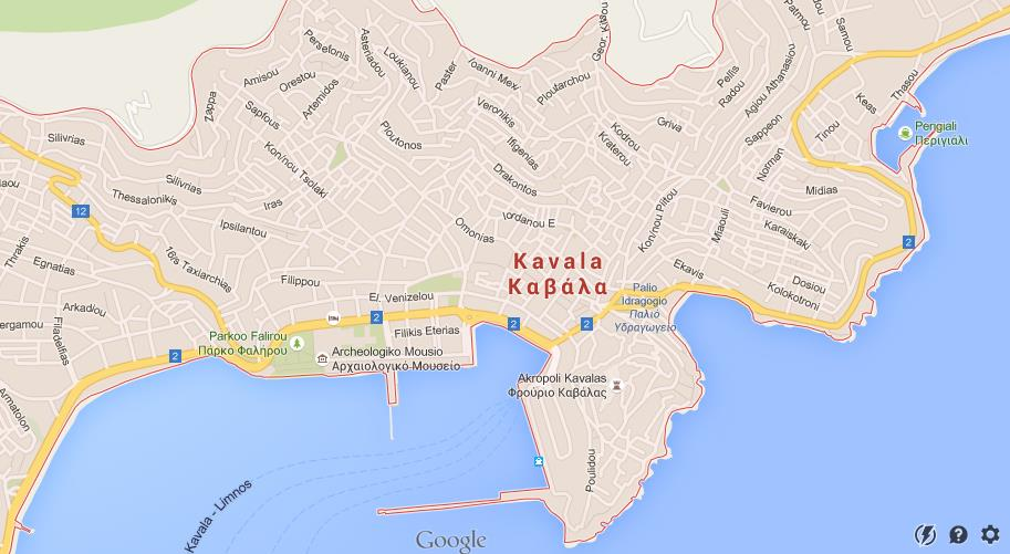 Map of Kavala World Easy Guides