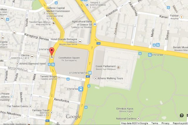 Map of Syntagma Square