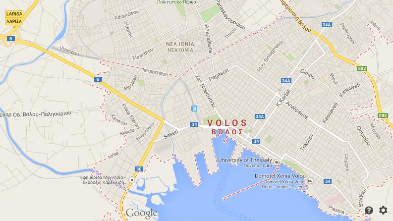 Map Of Volos