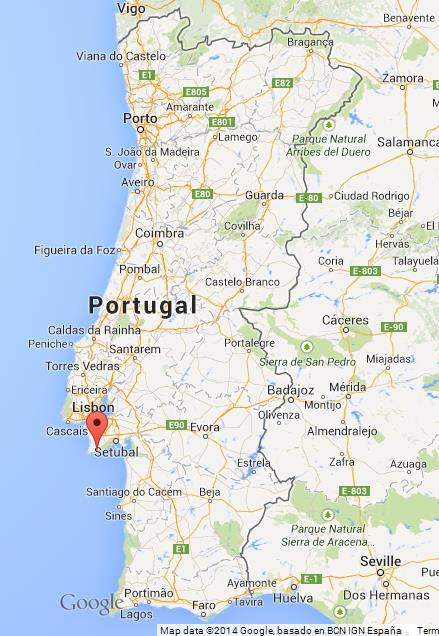 Sesimbra on Map of Portugal World Easy Guides
