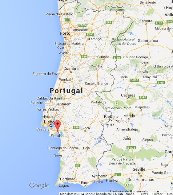 Setubal on Map of Portugal World Easy Guides