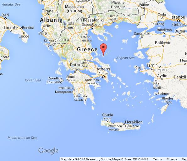 Skopelos on Map of Greece World Easy Guides
