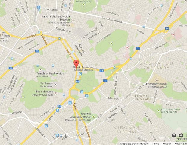 Where is Syntagma Square on Map of Athens