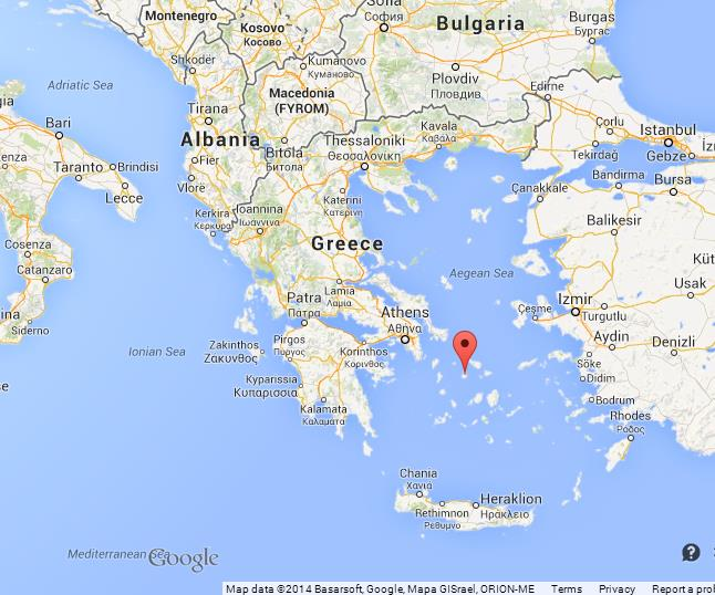 Syros on Map of Greece World Easy Guides