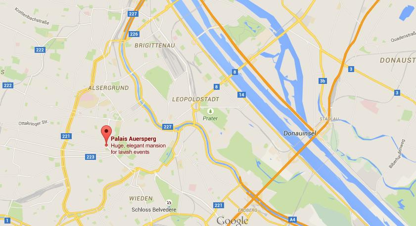 Where is auersperg palace on map vienna world easy guides location auersperg palace on map vienna gumiabroncs Choice Image