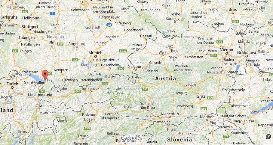 Where is Bregenz on map of Austria World Easy Guides