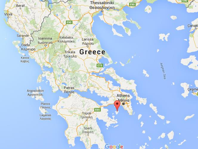 Where is Egina on map Greece World Easy Guides