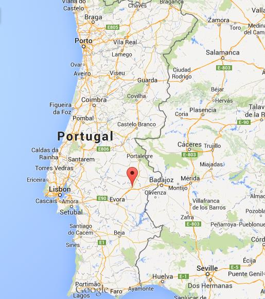 Where Is Estremoz Map Portugal