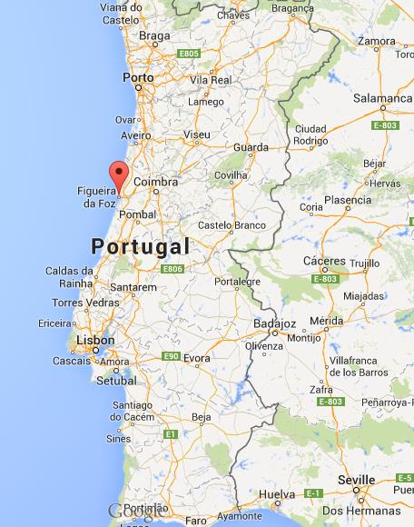 where is figueira da foz map portugal. Black Bedroom Furniture Sets. Home Design Ideas