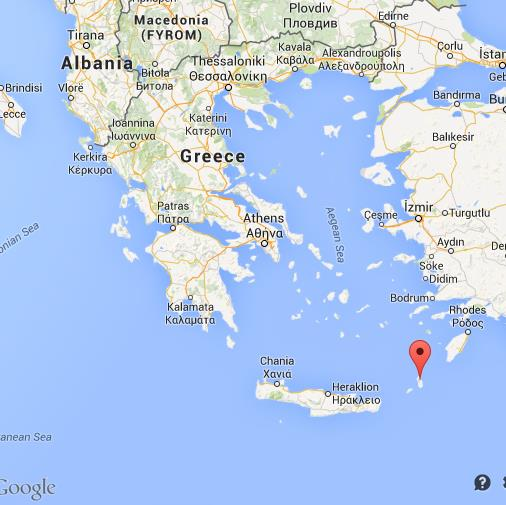 Where is Karpathos on map of Greece World Easy Guides
