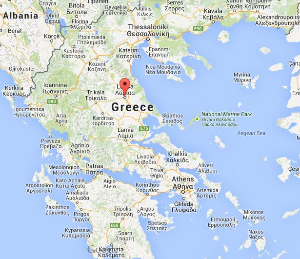 Where is Larissa on map Greece World Easy Guides