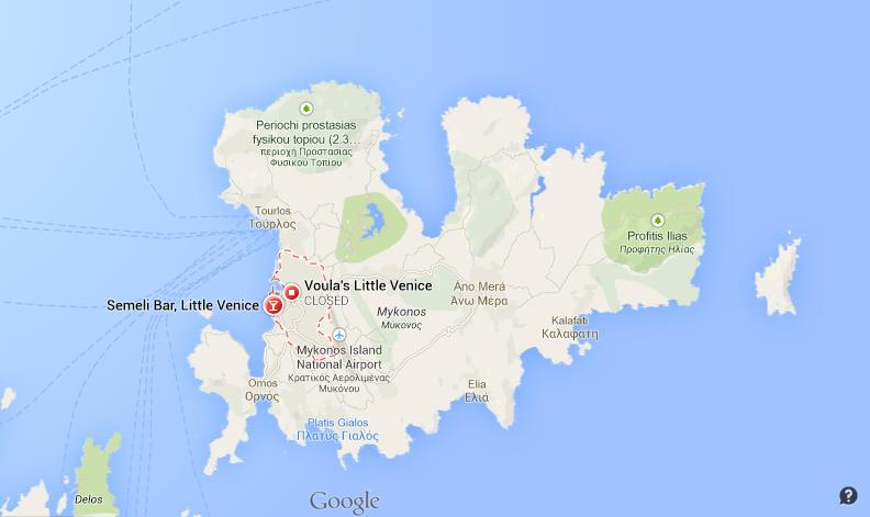 Where Is Little Venice On Map Of Mykonos World Easy Guides - Little venice map