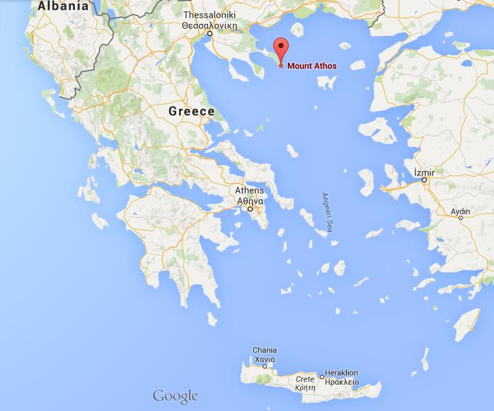 Where is Mount Athos on map Greece World Easy Guides