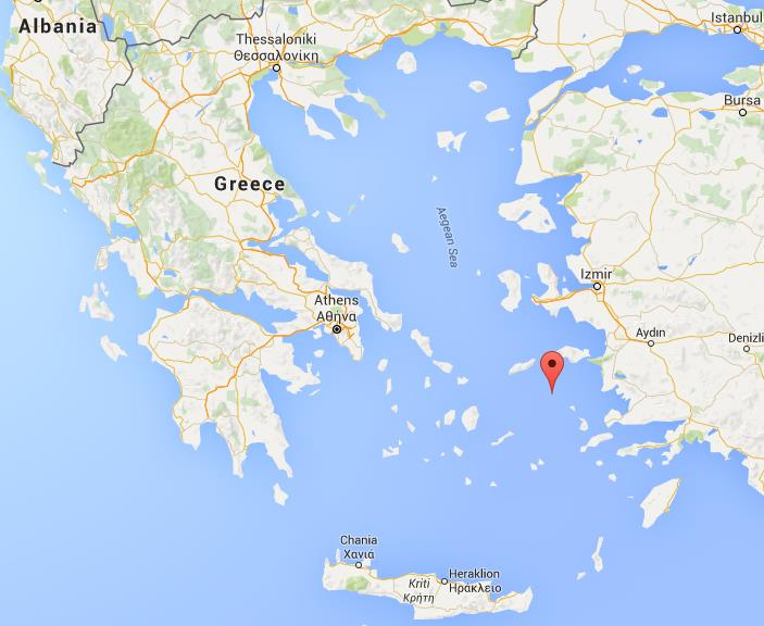 Where Is Patmos On Map Greece