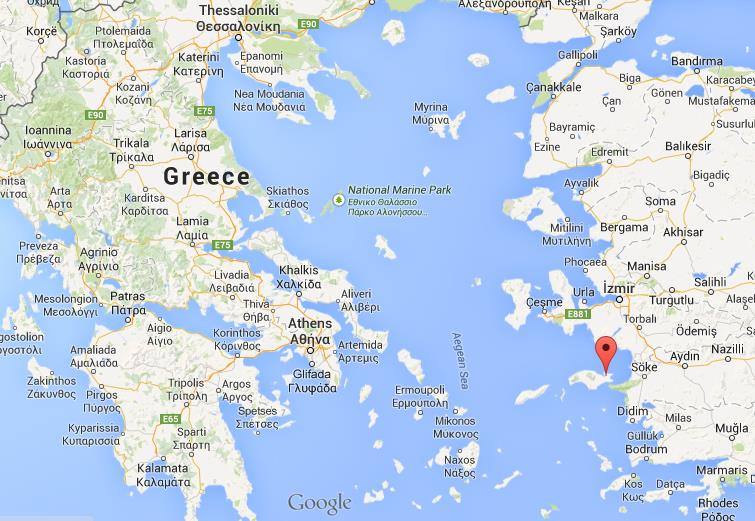 Where is samos on map of greece world easy guides location samos on map of greece gumiabroncs Images