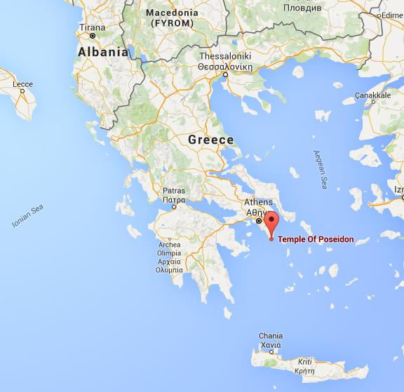 Where is Temple of Poseidon on map Greece World Easy Guides