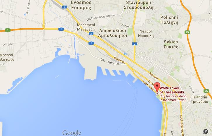 Where Is White Tower On Map Thessaloniki