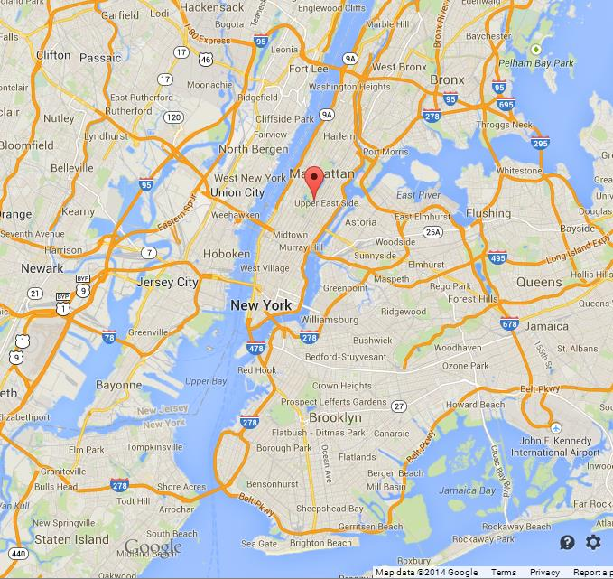 location fifth avenue on map of new york city