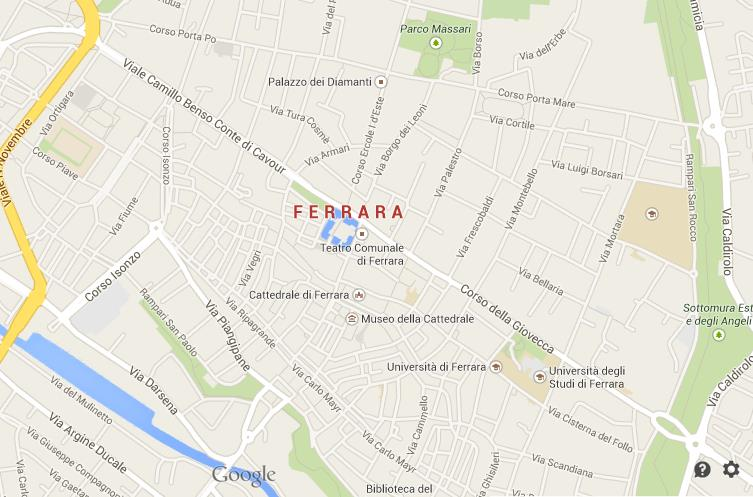 Map Of Ferrara Centre World Easy Guides - Ferrara map