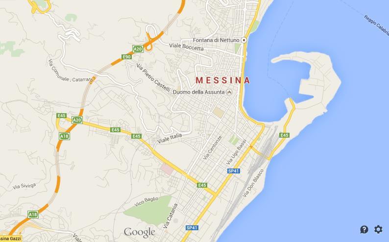 Map of Messina World Easy Guides