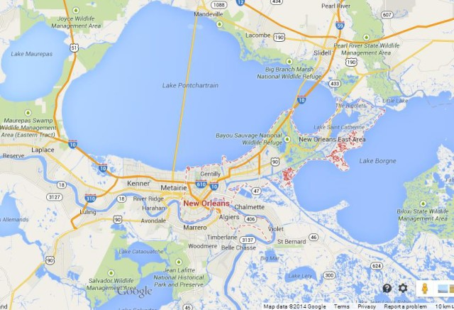 Map Of New Orleans Metro Area New Orleans breeds Jazz | World Easy Guides